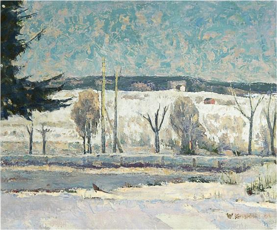 winter road by vaino kamppuri