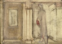 untitled - figure and doorway by mark rothko
