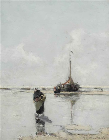 on the beach by gerhard arij ludwig morgenstjerne munthe