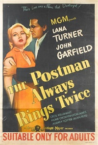 the postman always rings twice (poster) by metro-goldwin-mayer studios