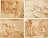 rachel giving birth to joseph by bernard (le petit bernard) salomon