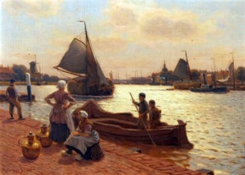 the river at dordrecht by robert bagge scott