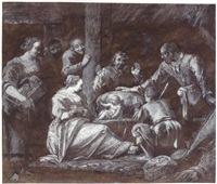 the adoration of the shepherds by gerrit (gerard) battem