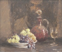 still life with grapes by archibald douglas colquhoun
