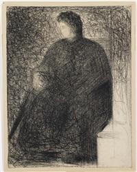 la mère de l'artiste, assise by georges seurat