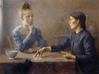 the card players by charles louis auguste weisser