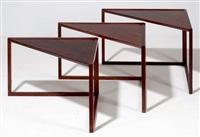 suite de trois tables gigognes (set of 3) by poul norreklit