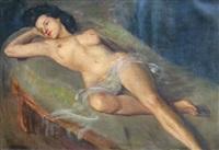 reclining nude by dora mcrae