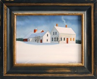 barn in winter by marieluise hutchinson