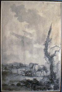 mouton dans un paysage by louis le sueur
