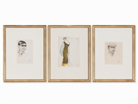 three drawings by jeanne mammen