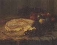 nature morte au brie, aux châtaignes et aux pommes by adrienne louchet peytel