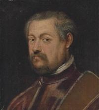 portrait of a venetian senator by domenico tintoretto