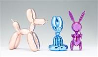Balloon Dog (Rose Gold)/ Balloon Rabbit (Blue)/...