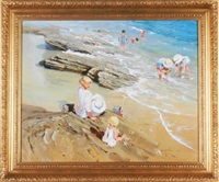 beach scene by john haskins