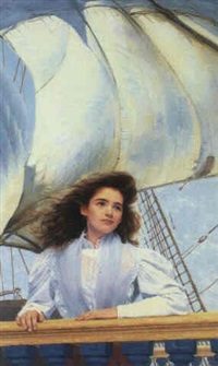 young woman aboard ship by heide oberheide