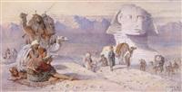 rastende bei der großen sphinx von gizeh by joseph austin benwell