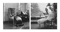 grandfather's chair; gropius lounge chair (set of 2) by dayanita singh