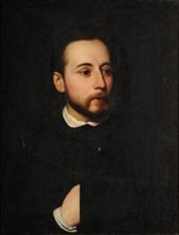 autoportrait (de l'artiste?) by alexandre-jean-baptiste hesse