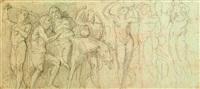 fregio con sileno ebbro e baccanti (study) by andrea appiani