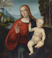 the madonna and child by giacomo raibolini