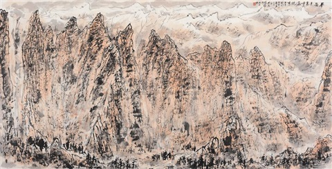 dashing look of the huashan by zhang wenjun