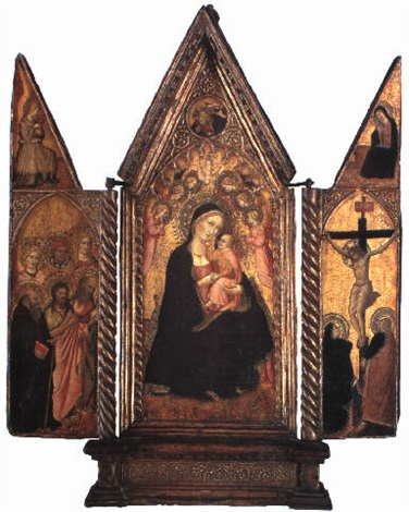 the madonna and child enthroned with angels by agnolo di taddeo gaddi