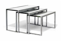 nest of three modernist tables by jacques adnet