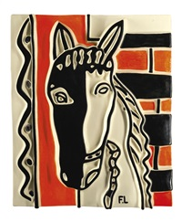 le cheval sur fond orange by fernand léger