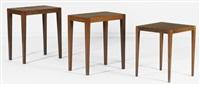 suite de trois petites tables d'appoint (set of 3) by svenn eske kristensen