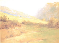 paisaje de los alpes by giuseppe garzolini