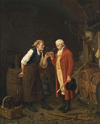 in the wine cellar by jan david col