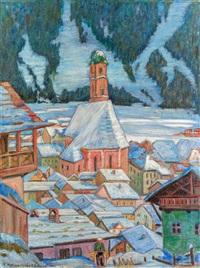 kirche von mittenwald by egon hofmann-linz