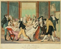 le thé parisien (after f.j. harriet) by adrien pierre francois godefroy