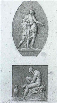 a study for an illustration of the decoration in the loggia in the vatican, pl.7 by lodovico tesio