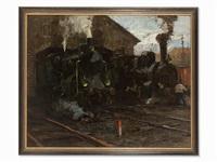 lokomotivschuppen by leonhard sandrock