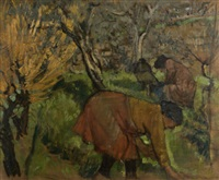 the olive pickers by derek hill