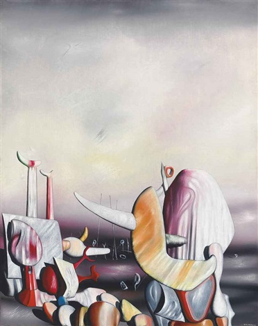 l'arc volant (the speeding bow) by yves tanguy