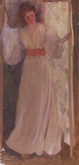 standing woman by florence carlyle