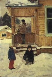 le peintre du dimanche by leonid alexandrovitch fokin