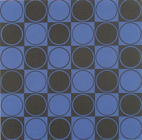 carre bleu et noir by antonio asis