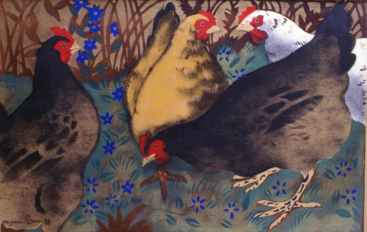 les poules by georges manzana pissarro