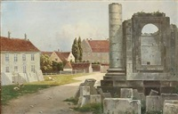 view from the ruins of the marble church in copenhagen by julius andersen
