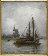 a dutch canal scene by james hamilton mackenzie