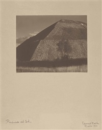 piramide del sol, teotihuacan by edward weston