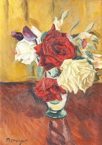 bouquet de roses by simon françois stanislas mondzain