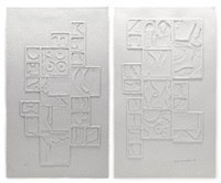 sky gate ii (diptych) by louise nevelson