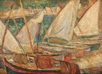 boats in saint tropez by alexis macedonski