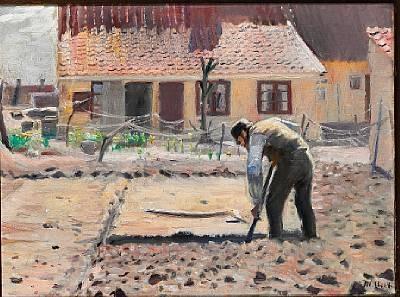 senius graver sin kartoffeljord by michael peter ancher