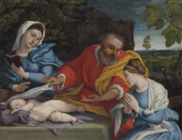 the holy family with saint catherine of alexandria by lorenzo lotto